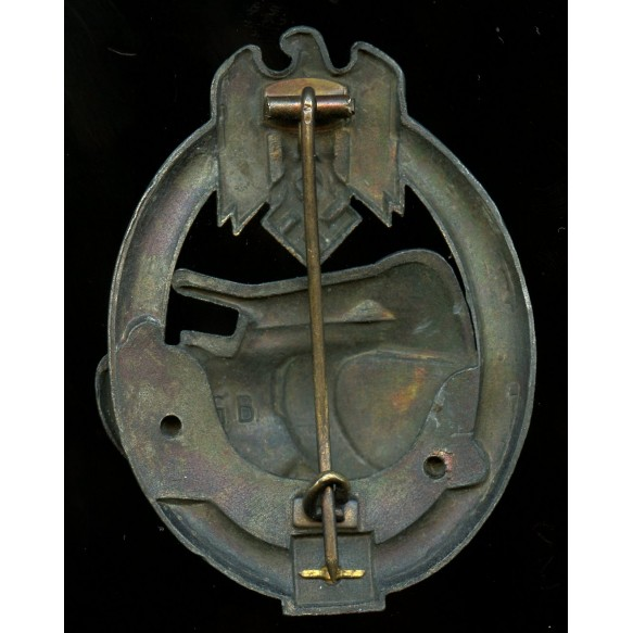 Panzer assault badge in bronze 50 assaults by Gustav Brehmer