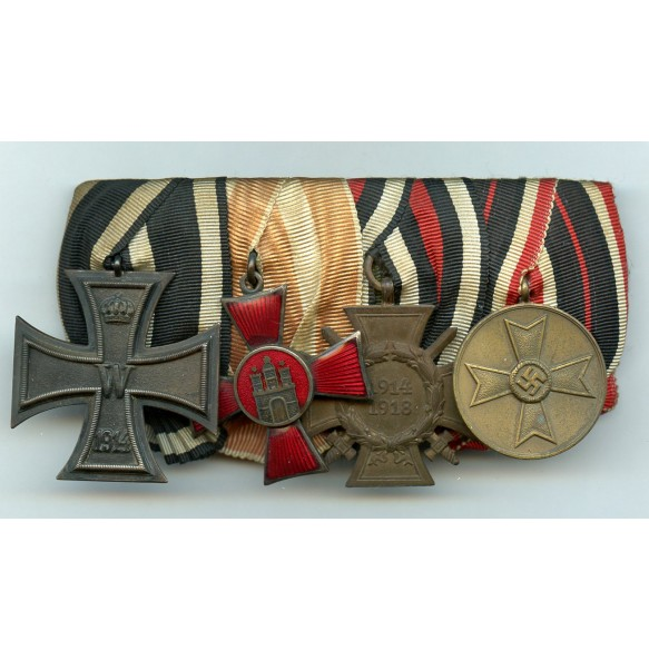 Imperial medal bar with war merit medal
