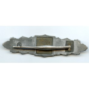 Close combat clasp in silver by Friedrich Linden