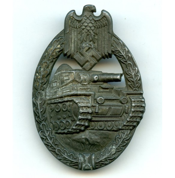 Panzer assault badge in bronze by E.F.Wiedmann