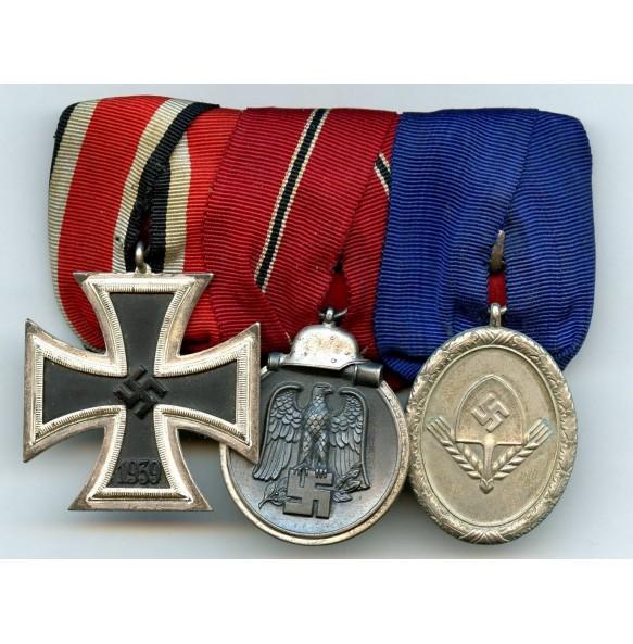 Medal bar EK2, east front and RAD 8 year service medal