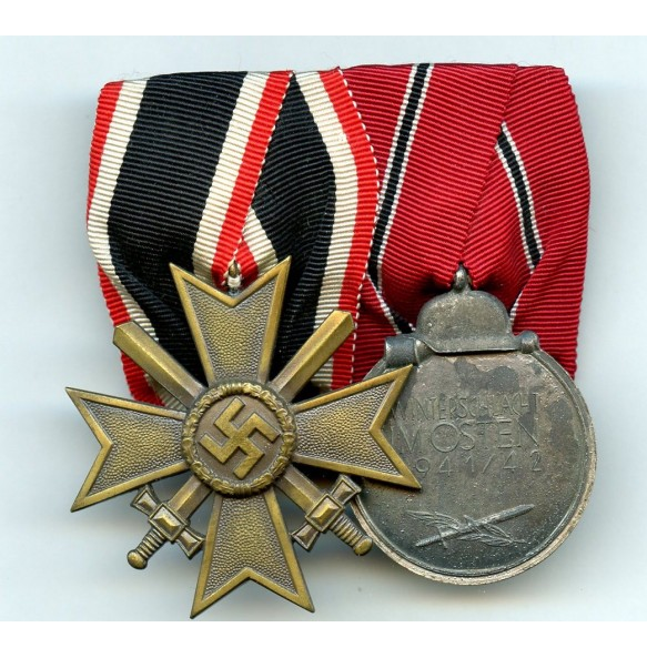 Medal bar War Merit Cross 2nd class + East front medal