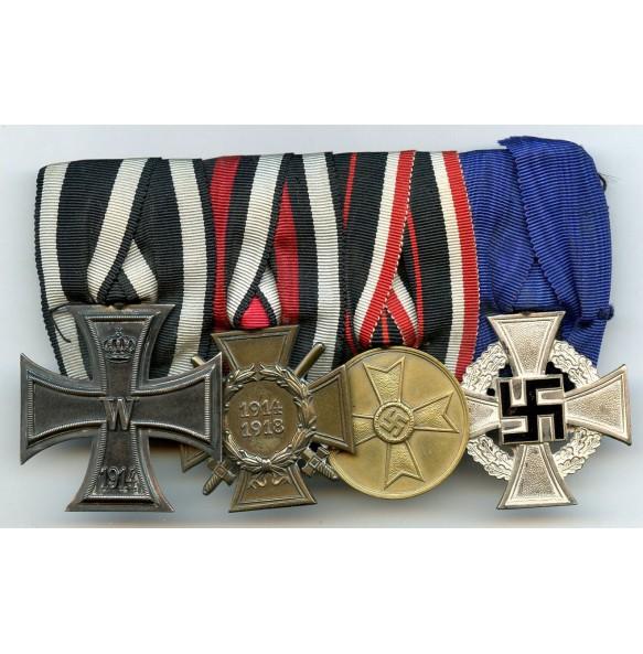 WW1 veteran medal bar with war merit medal and 25yr service cross