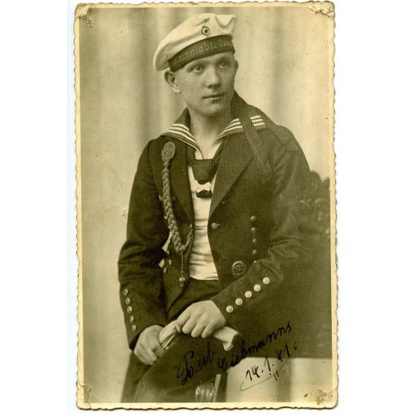 Portrait Kriegsmarine sailor with shooting lanyard 1941