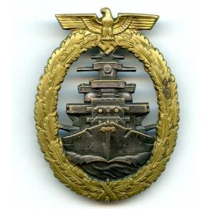 Kriegsmarine High sea fleet badge by Schwerin Berlin