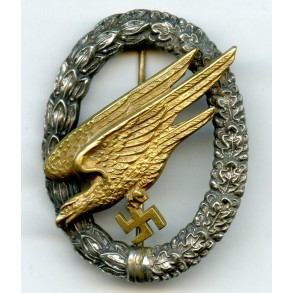 Luftwaffe paratrooper badge by C.E. Juncker