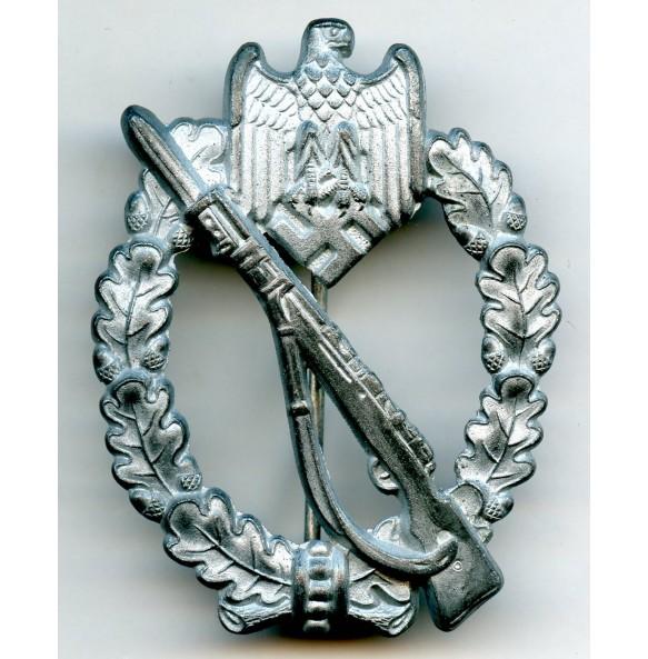 "Infantry assault badge in silver by F.W. Assmann & Sohn ""3"""