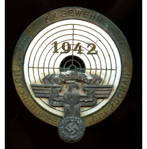 """NSKK shooting badge Motorgruppe Oberdonau """"K.K.Gewehr 1942"""""""