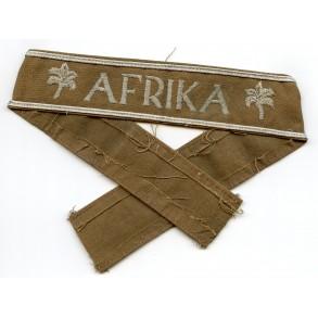 Afrika cufftitle, brown CANVAS variant