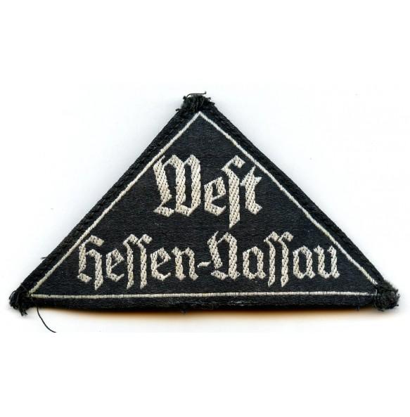 HJ triangle West Hessen-Nassau + RZM label