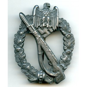 Infantry assault badge in silver by F.A. Assmann & Söhne, double mark!