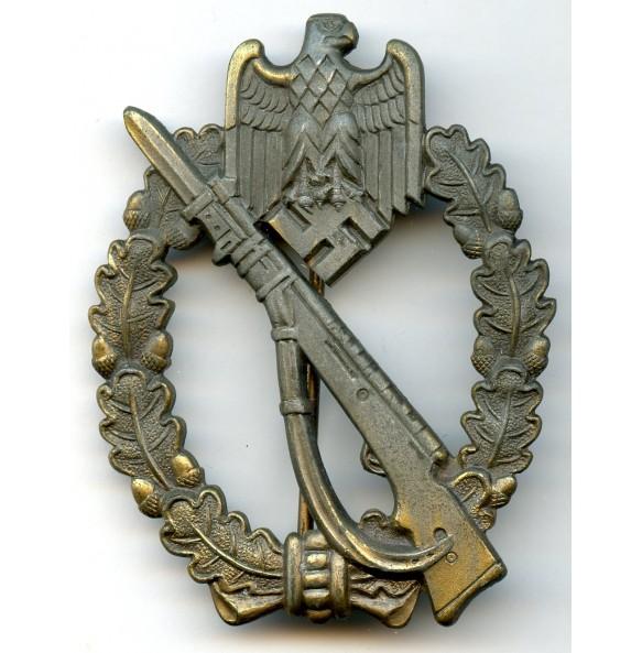Infantry assault badge in bronze by F. Zimmermann