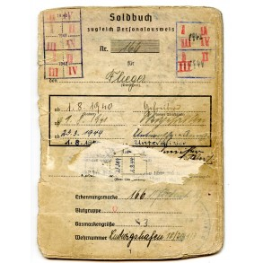 Luftwaffe soldbuch to N. Fürst, Jagdgeschwader 103 & 107
