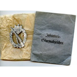 Infantry assault badge in silver E.F. Wiedmann + package
