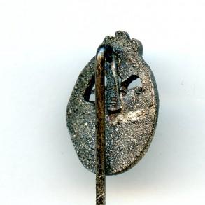 Panzer assault badge in silver miniature 16mm