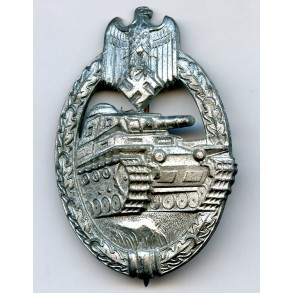 Panzer assault badge in silver by Steinhauer & Lück