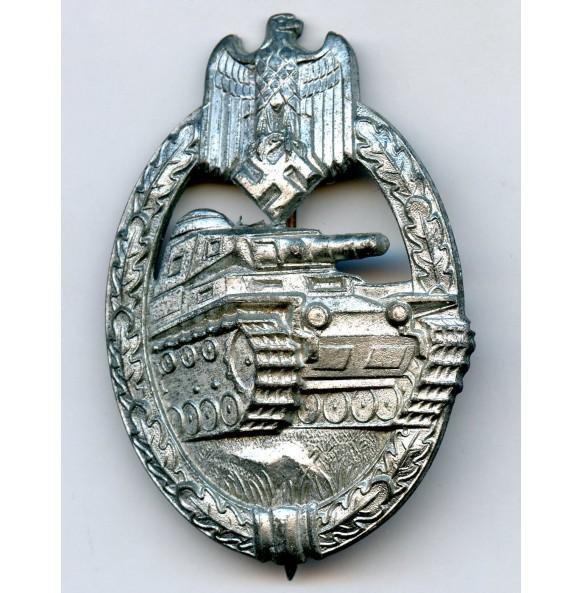 Panzer assault badge in silver by Steinhauer & Lück
