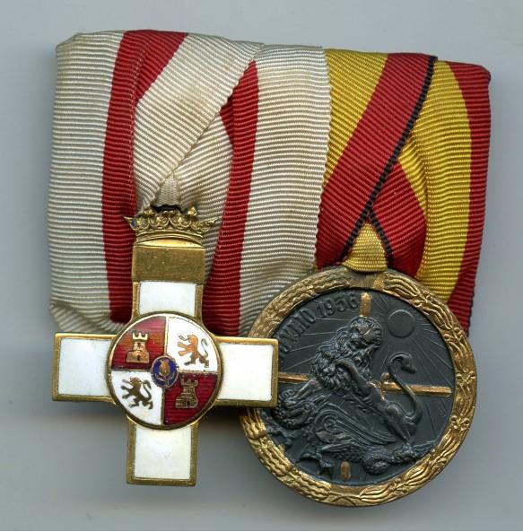 Spanish 2 place medal bar