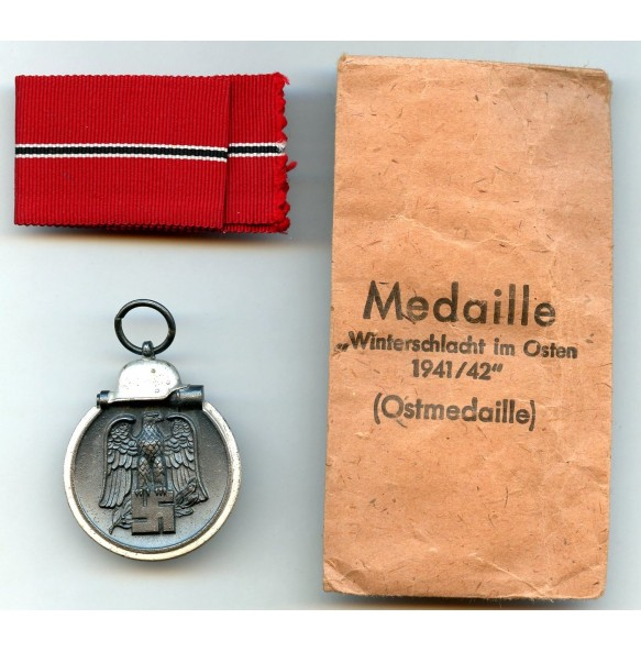 "East front medal by Wilhelm Deumer ""3"" + package"