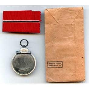 "East front medal by Wilhelm Deumer ""3"" + package"