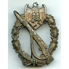 Infantry assault badge in silver by Dr. Franke & Co