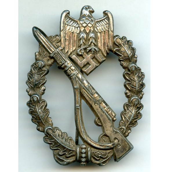 Infantry assault badge in silver by Dr. Franke & Co