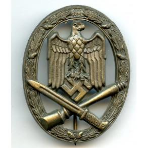 """General assault badge (bronze) by F.A. Assmann & Söhne """"A"""""""