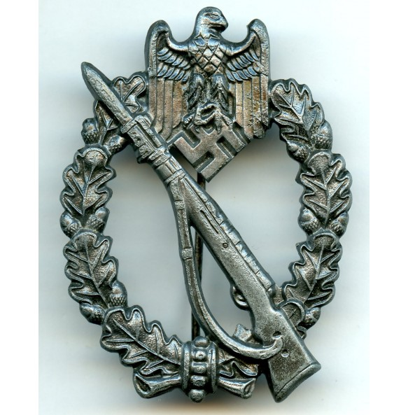 "Infantry assault badge in silver by Grossmann & Co ""Gr&Co"""