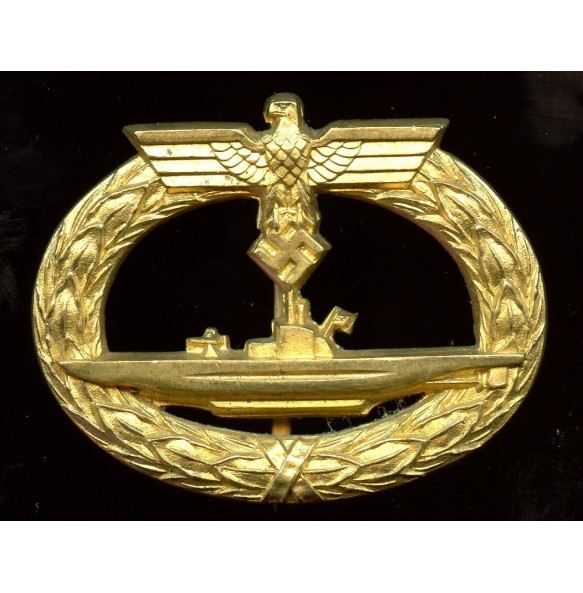 Kriegsmarine U-boat badge by C.E. Juncker
