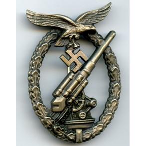 Luftwaffe flak badge by C.E. Juncker, nickel silver