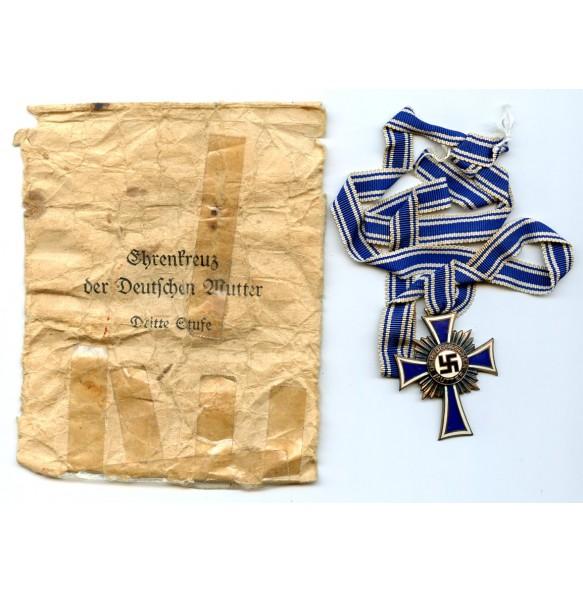 Mother cross in bronze + package by Biedermann & Co
