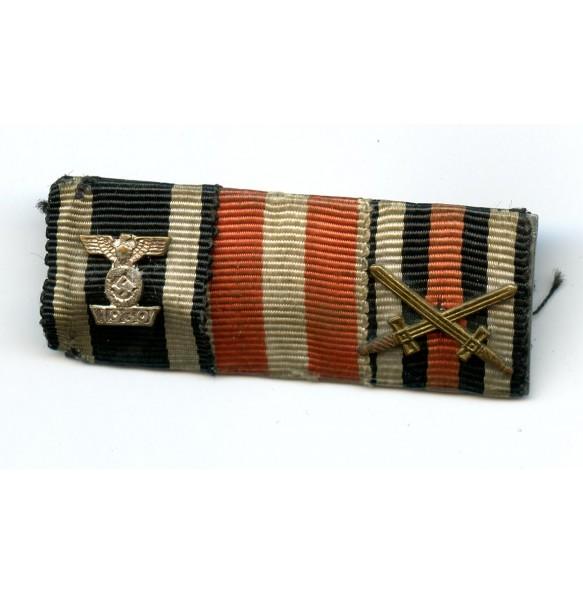 Ribbon bar with iron cross clasp 2nd class, 1st pattern!