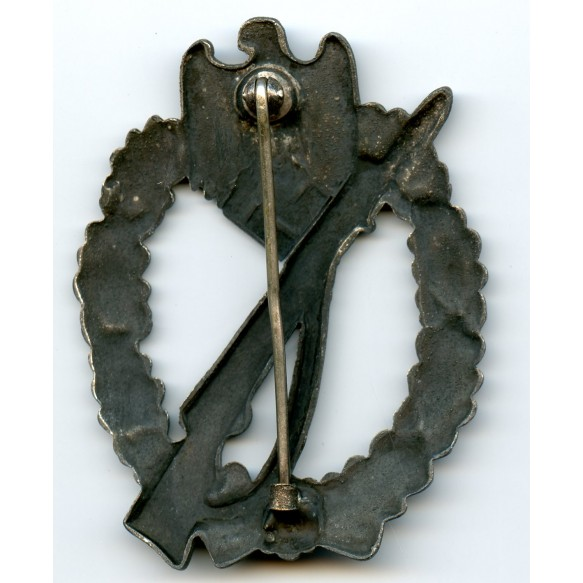 Infantry Assault Badge in silver by J. Feix & Söhne, hollow variant