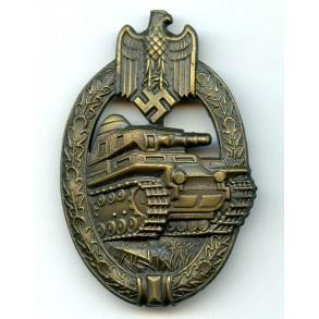 """Panzer assault badge in bronze """"A.S."""" mint"""