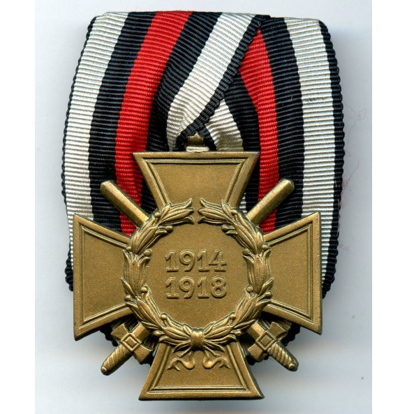 "1914-1918 Honour cross with swords by ""Erbe"", parade mount"