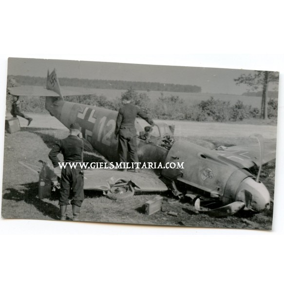 Private snapshot ME-109 JG51, crashed 19.7.44 over the channel