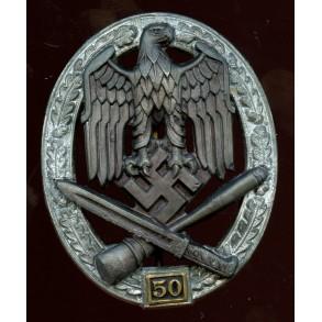 General assault badge 50 assaults by C.E. Juncker