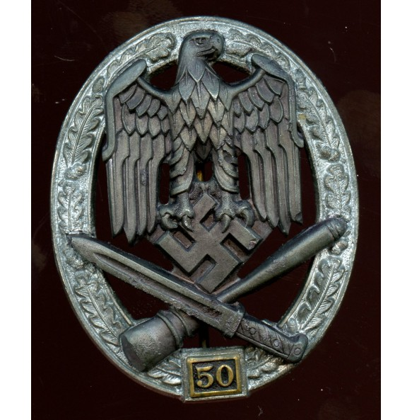 General assault badge 50 assaults by C.E. Juncker