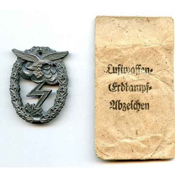 Luftwaffe ground assault badge by A. Wallpach + package