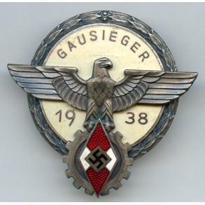 HJ Gausieger badge 1938 by Gustav Brehmer