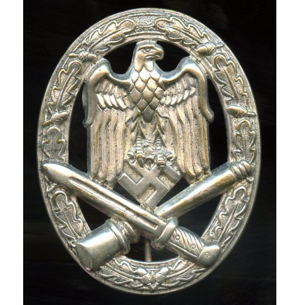 General assault badge in silver by Otto Schickle