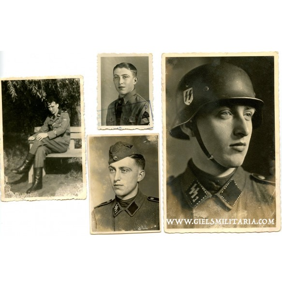 "Small photo group to SS-Rottenführer R. Selzer, SS-Pz Division ""Das Reich"""