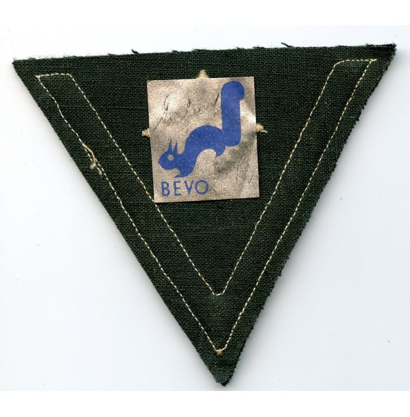 "Obergefreiter rank patch by ""Bevo"" with Bevo label"