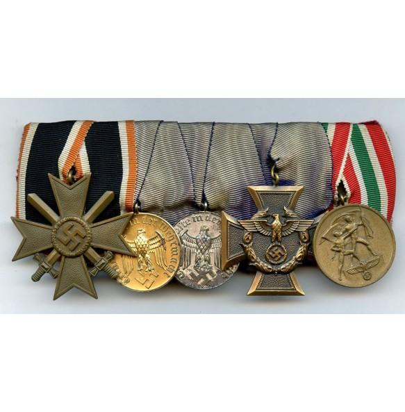 Medal bar for customs unit with memel medal