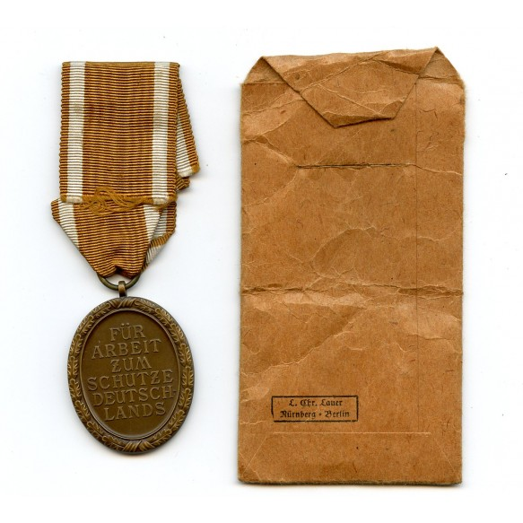 Westwall medal by Chr. Lauer + package