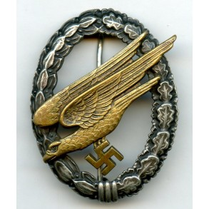 "Luftwaffe paratrooper badge by F.A. Assmann & Söhne ""A"""