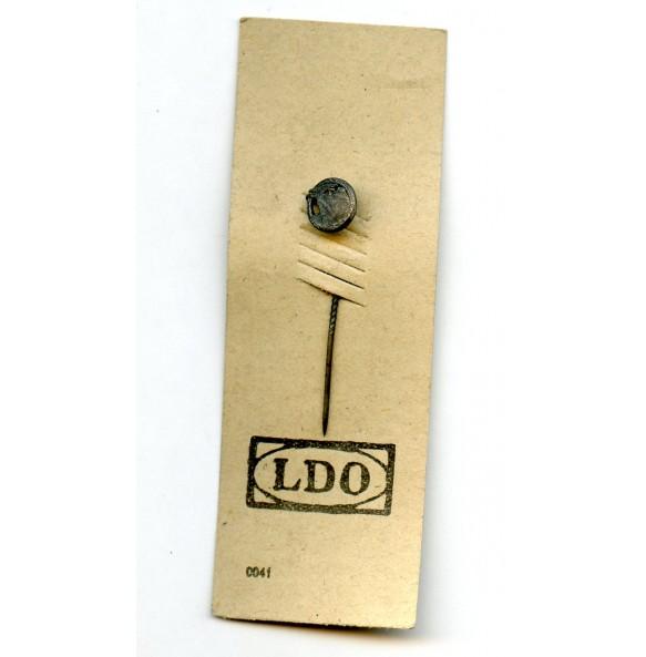 "Blockade runner badge 9mm miniature by Steinhauer & Lück on LDO cardboard ""L/16"""