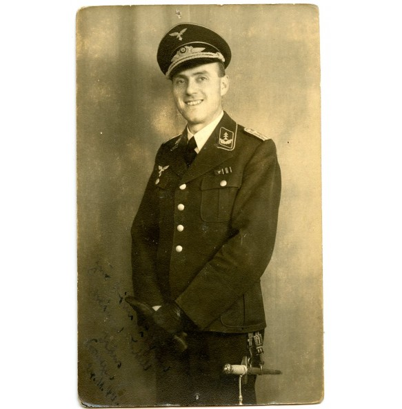 Portrait Luftwaffe officer with dagger in wear
