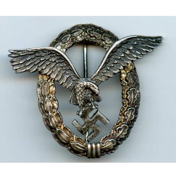 """Luftwaffe pilot badge by Assmann & Sohn """"A"""", aluminium"""