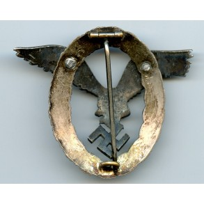"Luftwaffe pilot badge by Assmann & Sohn ""A"", aluminium"